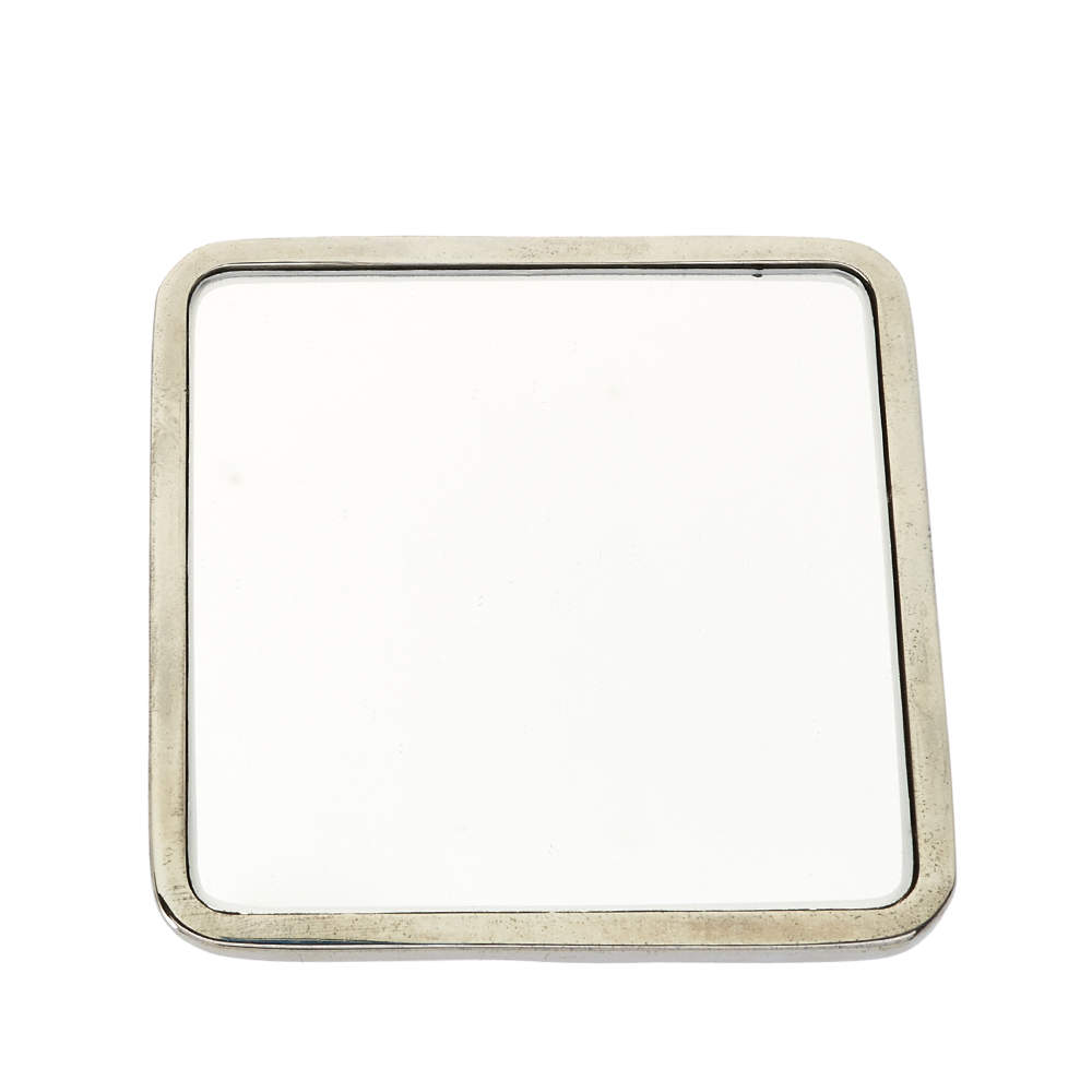 Dior Silver Tone Pocket Mirror
