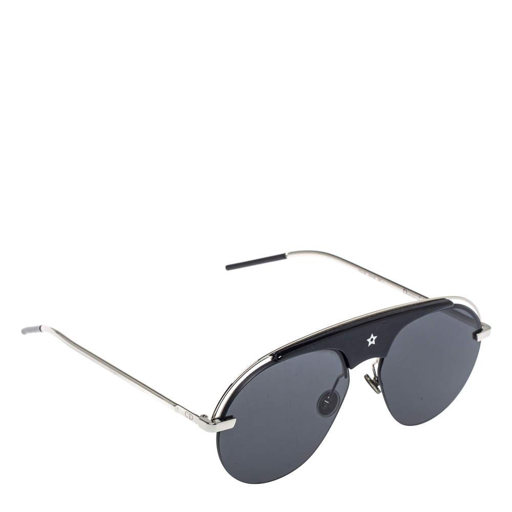 Dior Silver Tone/ Grey Dio(r)evolution Aviator Sunglasses