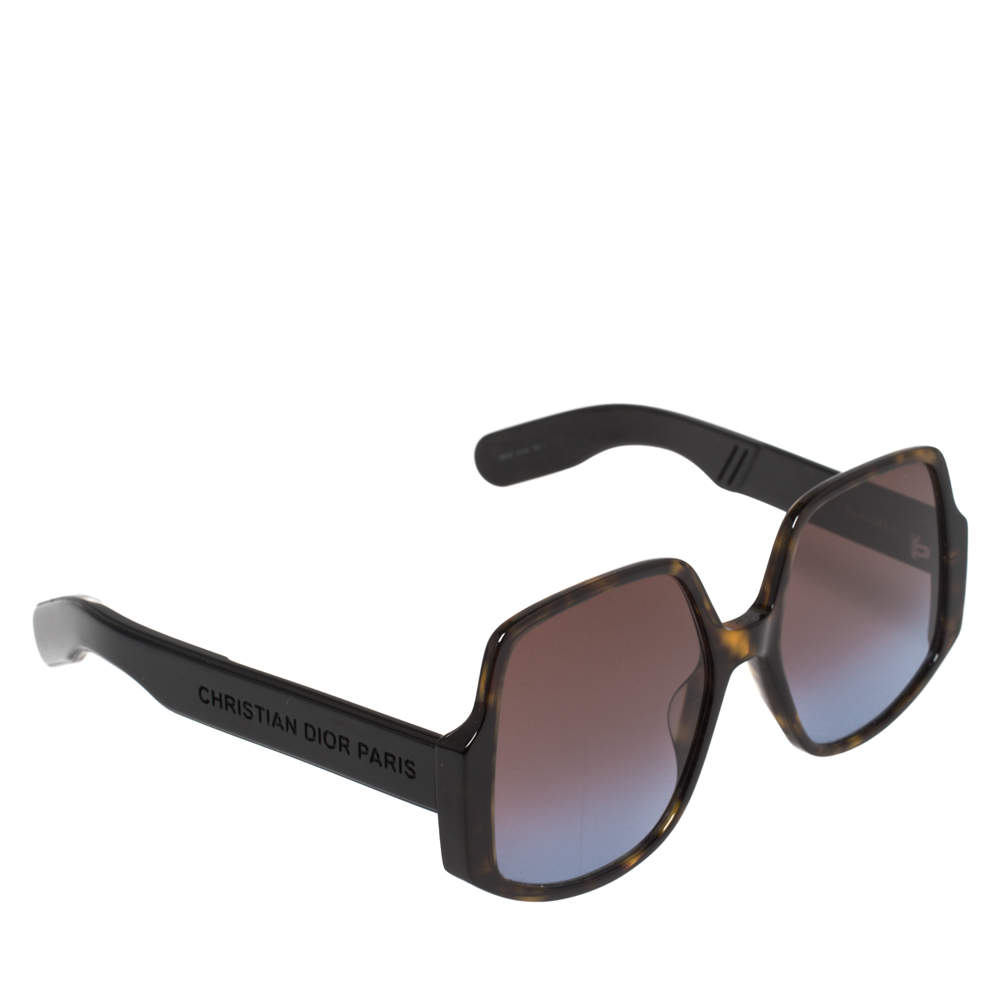 Dior Brown Havana/ Bicolor Gradient InsideOut1 Oversized Sunglasses