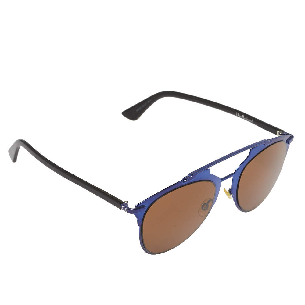 Dior Blue & Black/Brown M2XA6 Reflected Aviator Sunglasses