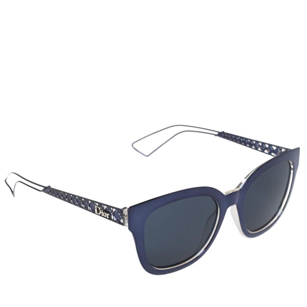 Dior Blue Tone Metal/Blue TGVKU Diorama 1 Square Sunglasses