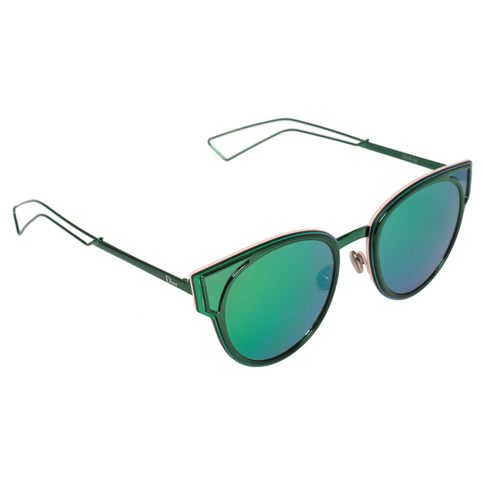Dior Green Tone/ Green & Purple DiorSculpt Cat Eye Sunglasses