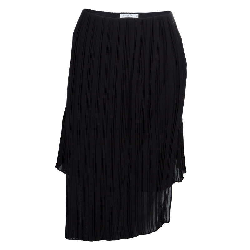 Dior Black Pleated Skirt M