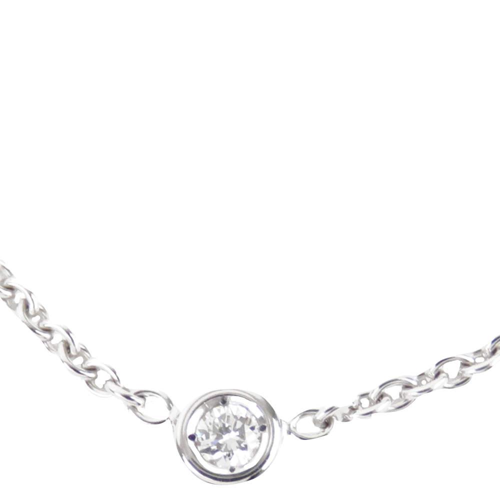 Dior Diamond 18K White Gold Pendant Necklace