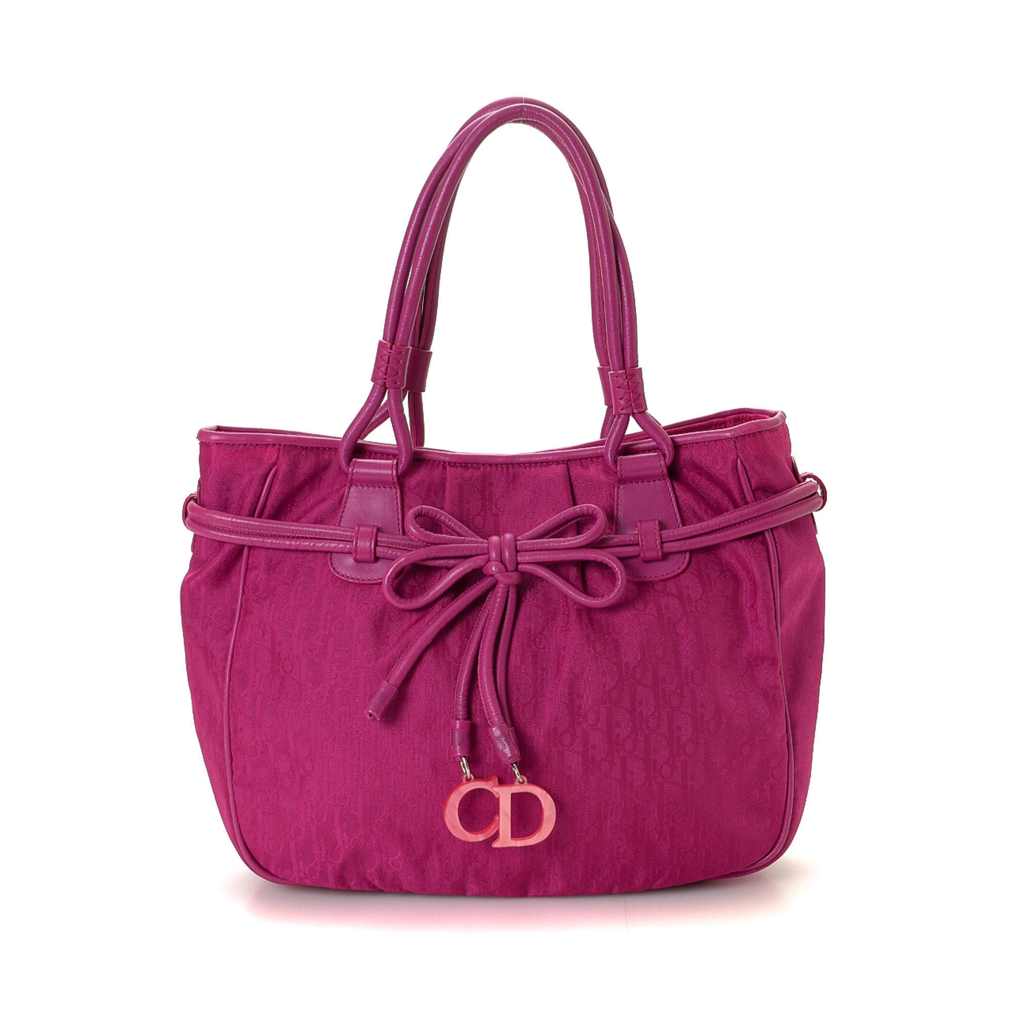 Dior Pink Trotter Canvas Bag