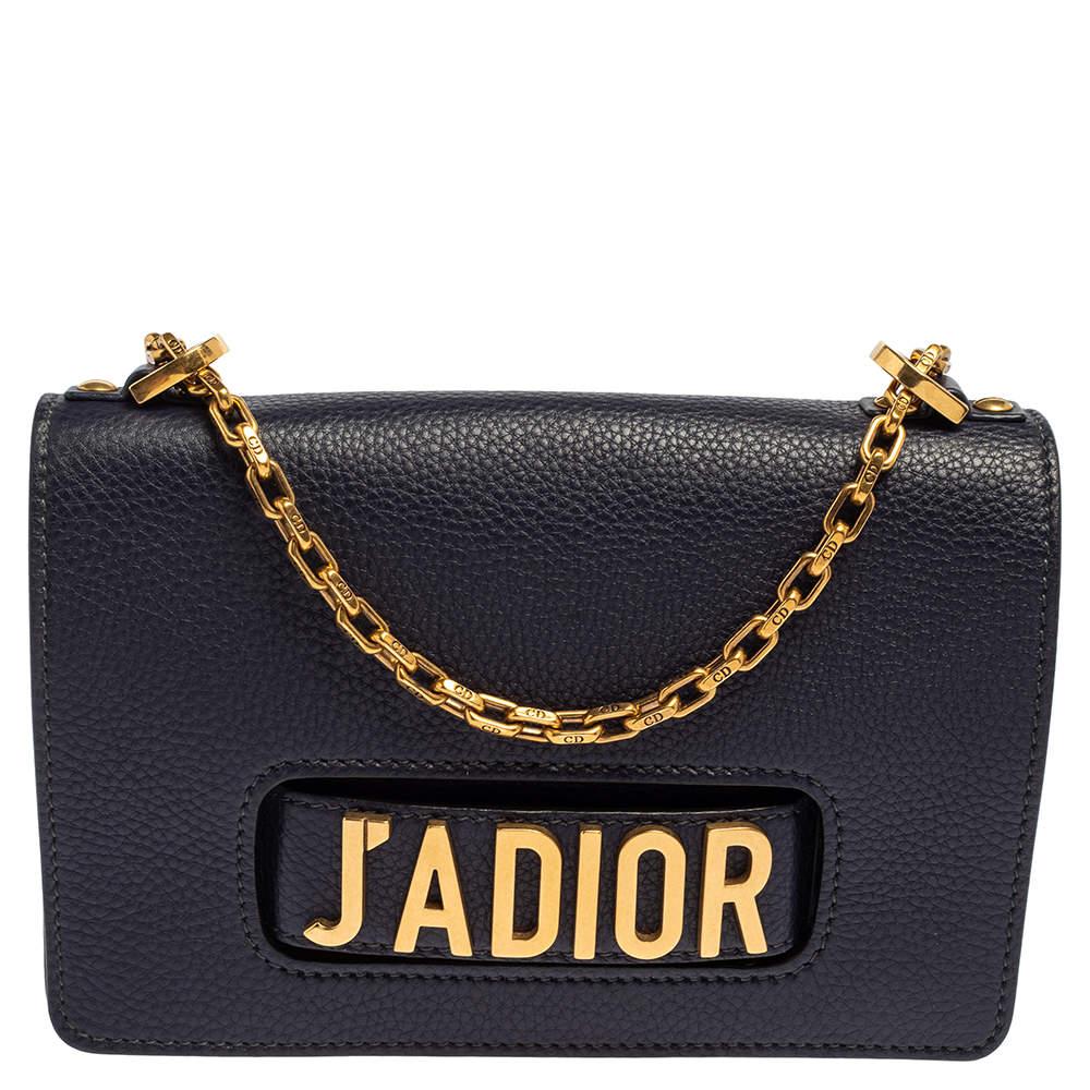 Dior Blue Leather J'adior Flap Shoulder Bag