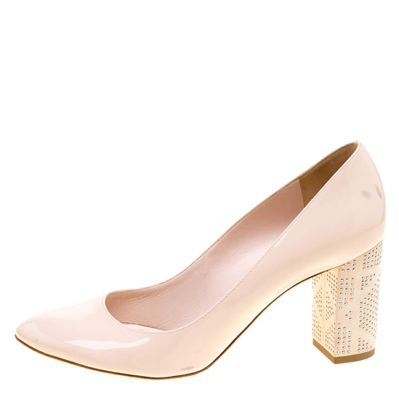 pink dior heels