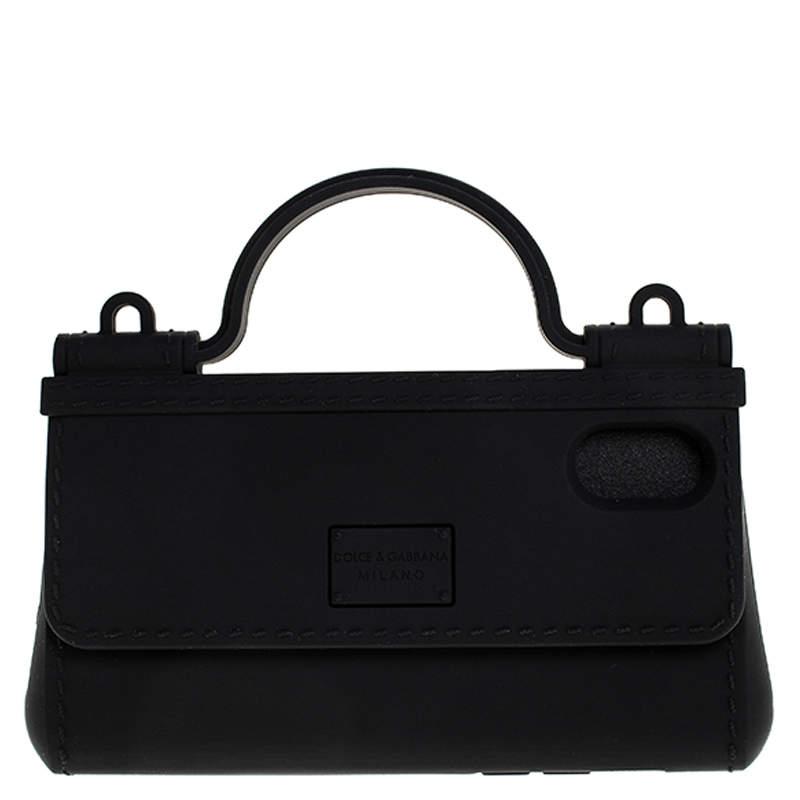 Dolce & Gabbana Black Rubber Sicily iPhone X - XS Chain Case