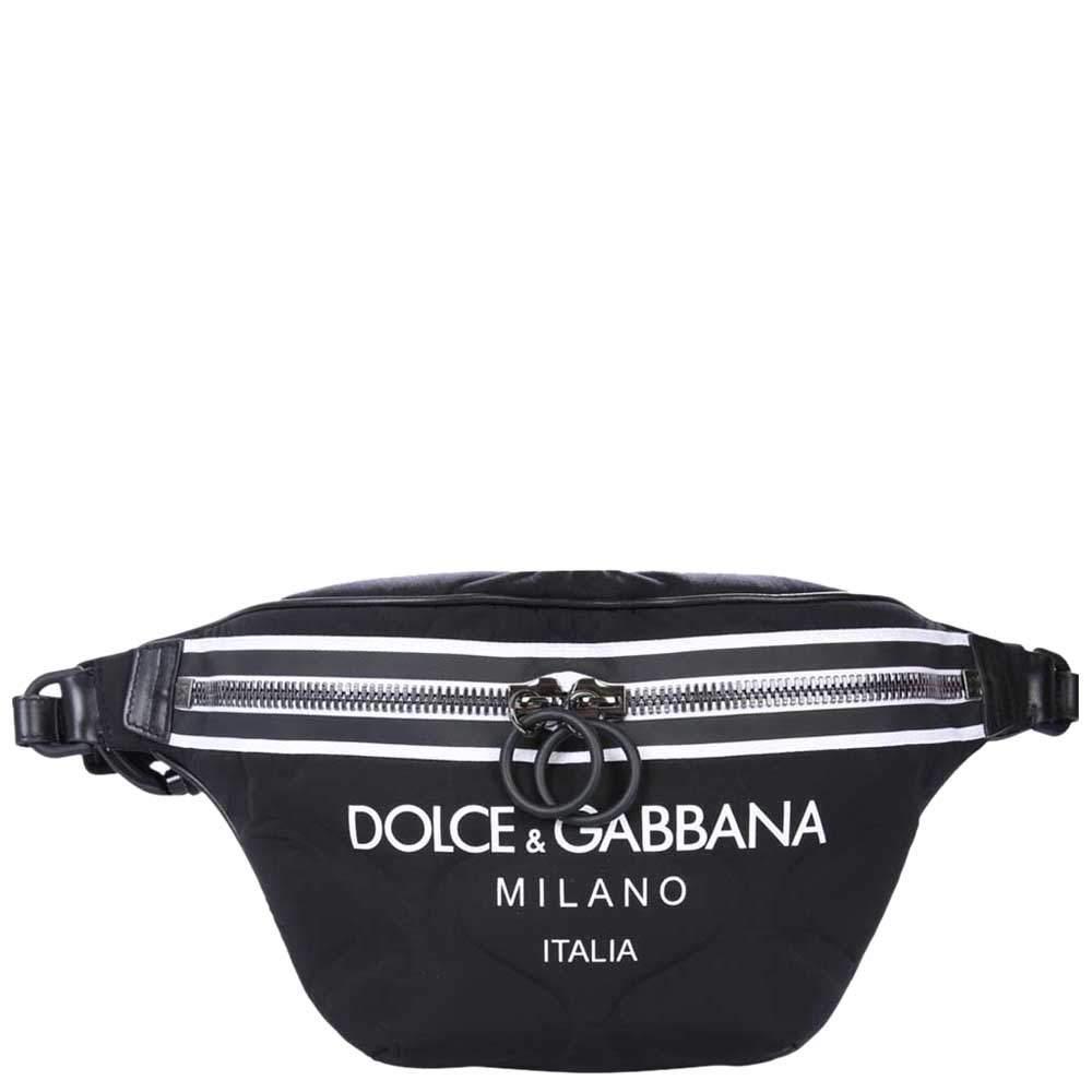 Dolce & Gabbana Black Nylon Palermo Tecnico Belt Bag