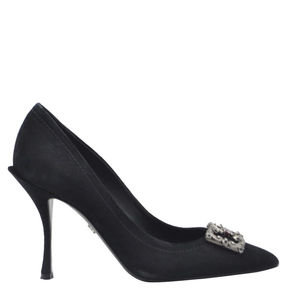 Dolce & Gabbana Black DG Pumps Size EU 36
