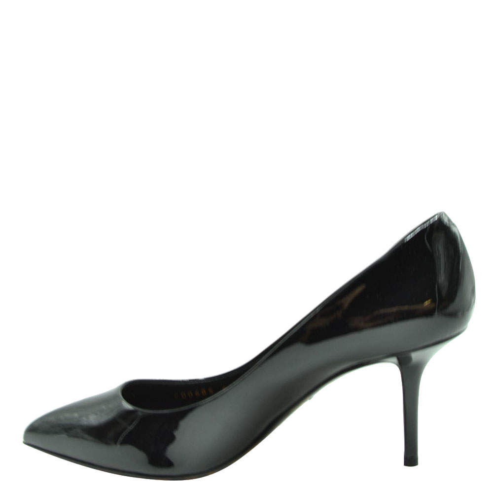 Dolce and Gabbana Black Patent Leather Pumps Size EU 36.5
