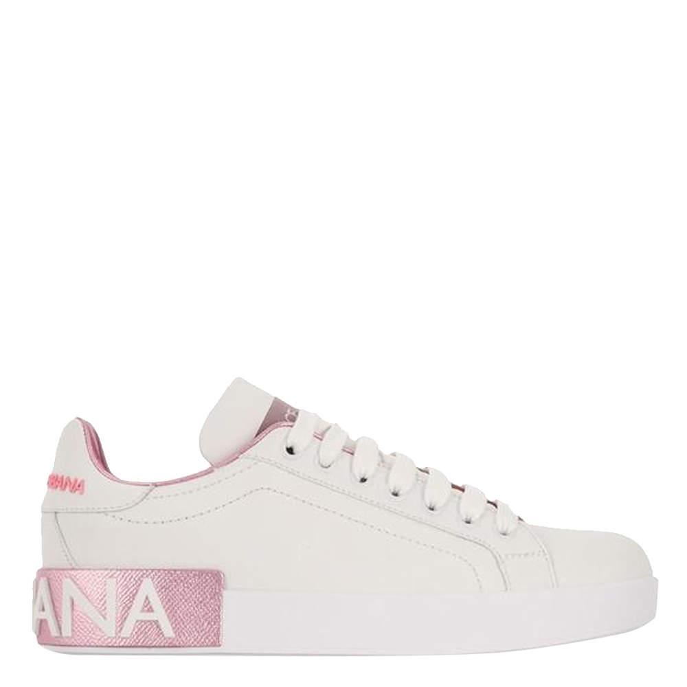 Dolce & Gabbana White Portofino Sneakers Size EU 38