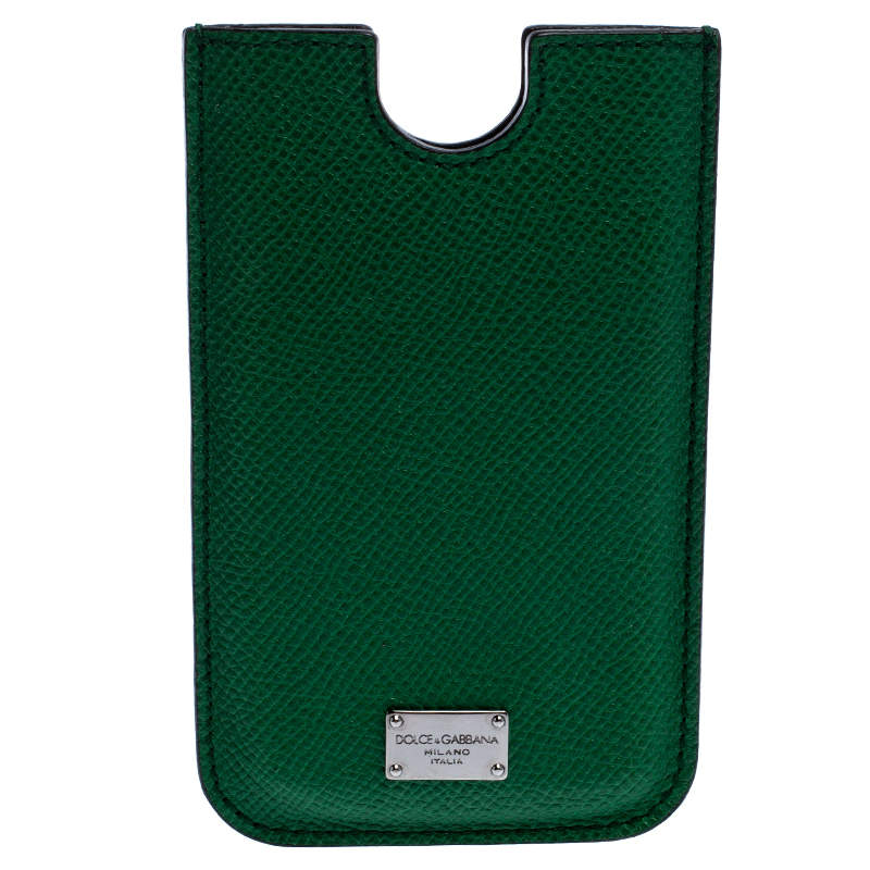Dolce & Gabbana Green Leather iPhone 4 Case