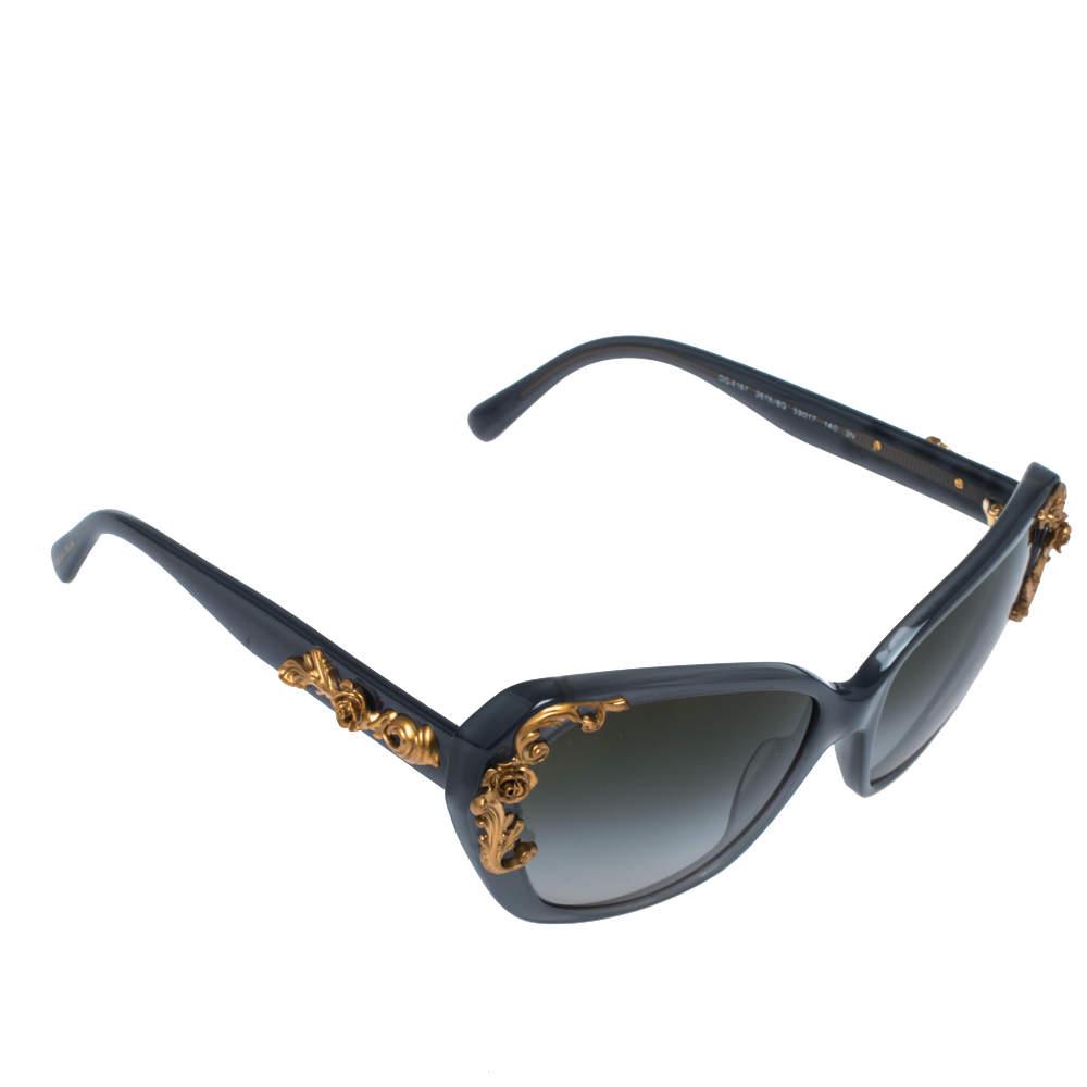 Dolce & Gabbana Grey/ Green Gradient DG4167 Sicilian Baroque Sunglasses