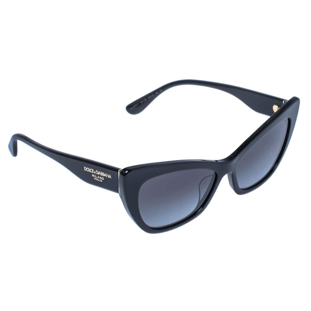 نظارة شمسية دولتشي أند غابانا عين قطة دي جي 4370-أف رمادية/ سوداء