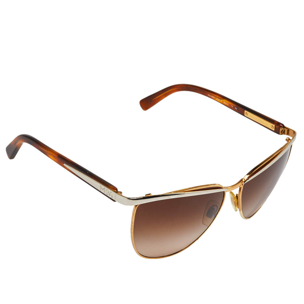 Dolce & Gabbana x Madonna Two Tone/ Brown Gradient DG 2087 Aviator Sunglasses