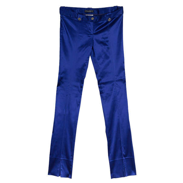 Dolce & Gabbana Purple Satin Trousers M