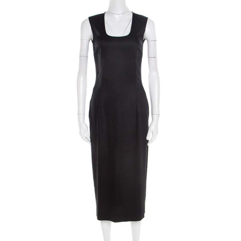 Dolce & Gabbana Black Sleveeless Midi Dress S