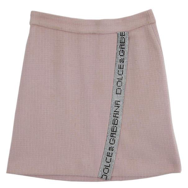 Dolce & Gabbana Swarovski Embellished Wrap Skirt S