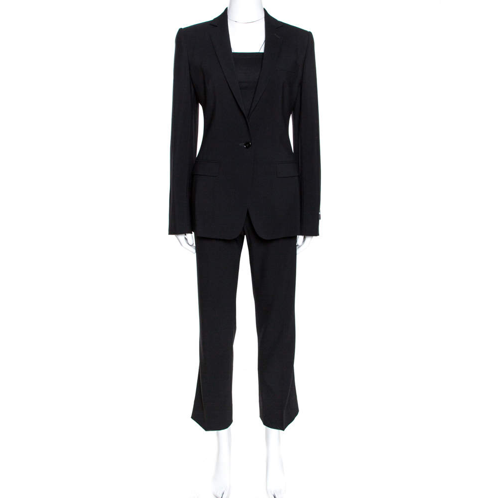 Dolce & Gabbana Black Wool Martini Trouser Suit S