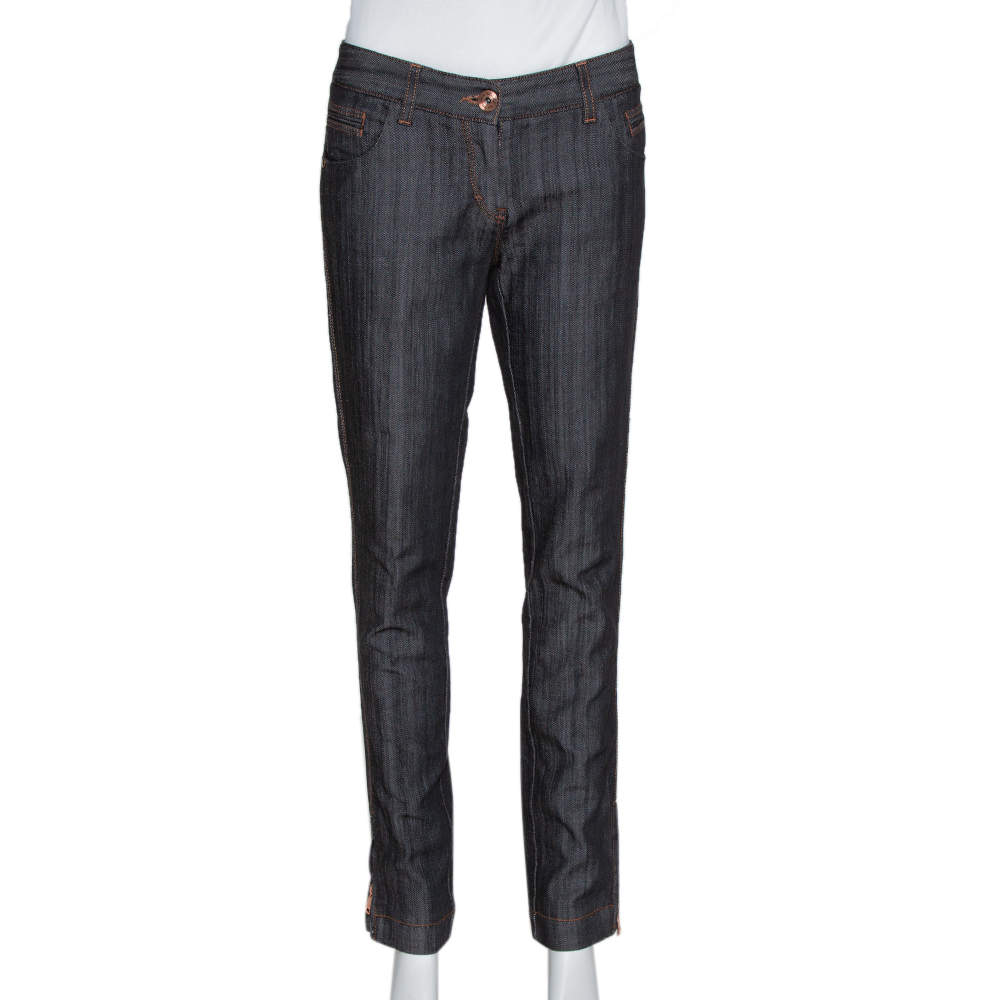 Dolce & Gabbana Black Denim Zipper Hem Regular Fit Jeans M