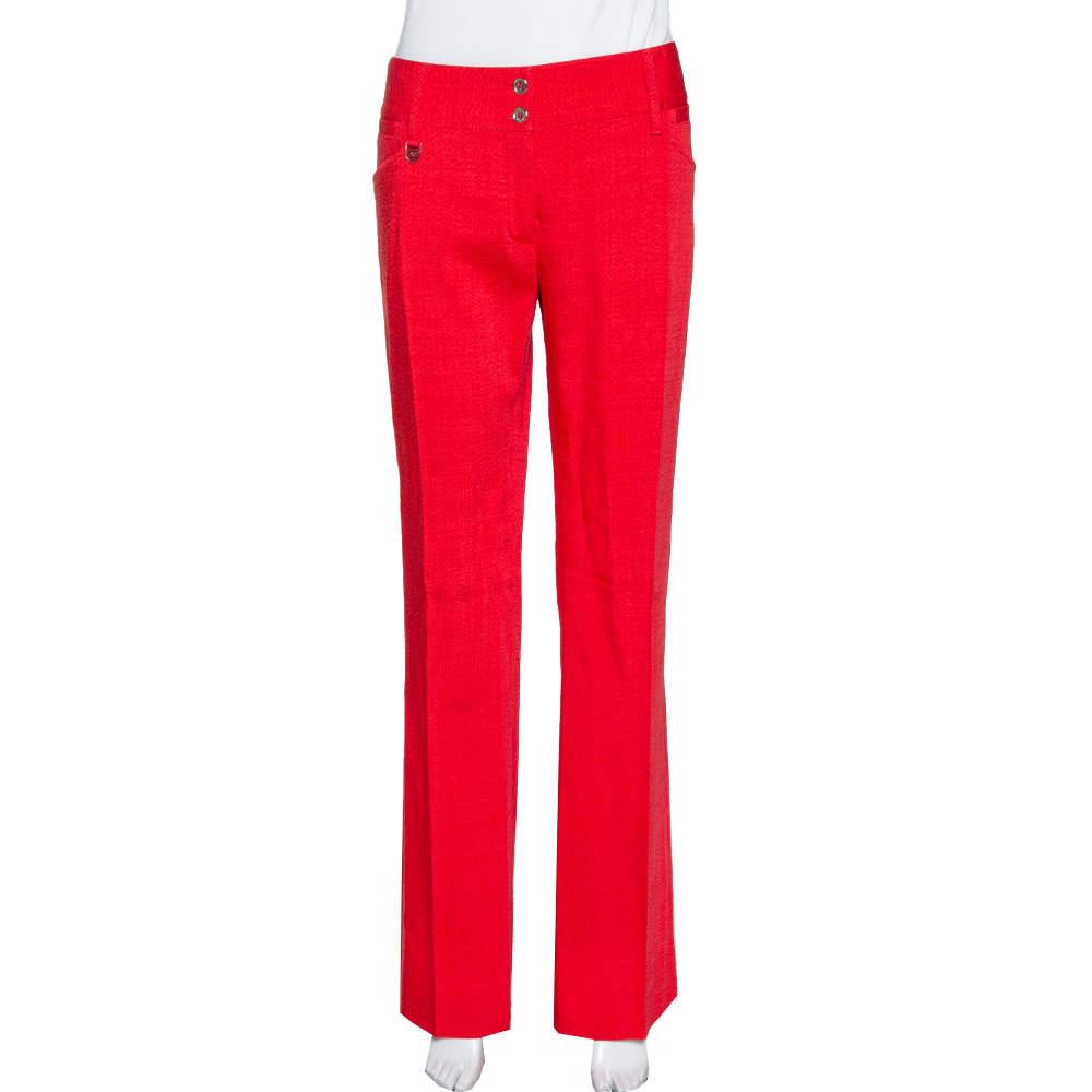 Dolce & Gabbana Red Straight Leg Pants L