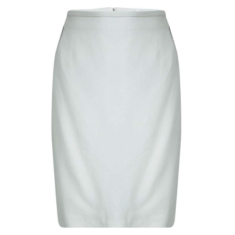 Dolce & Gabbana Light Grey Pencil Skirt L