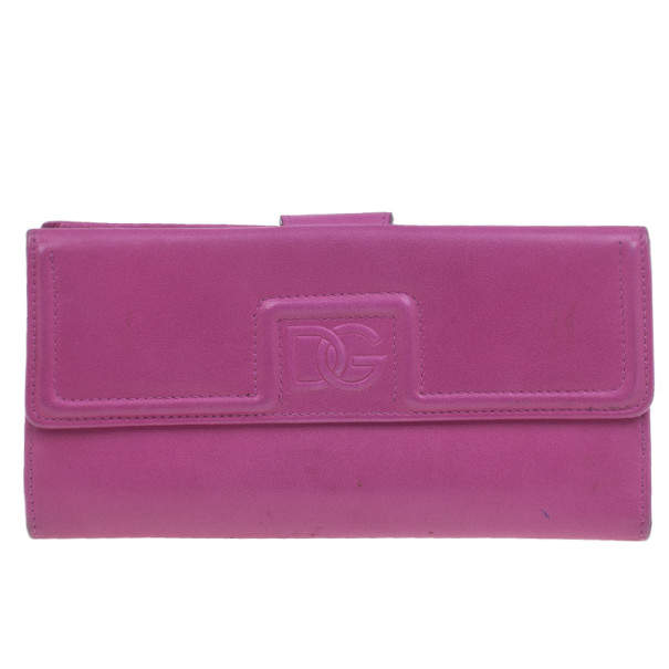 Dolce & Gabbana Pink Leather Wallet