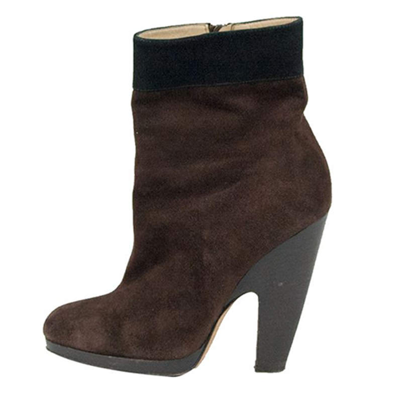 Dolce & Gabbana Brown Suede Ankle Boots Size 39