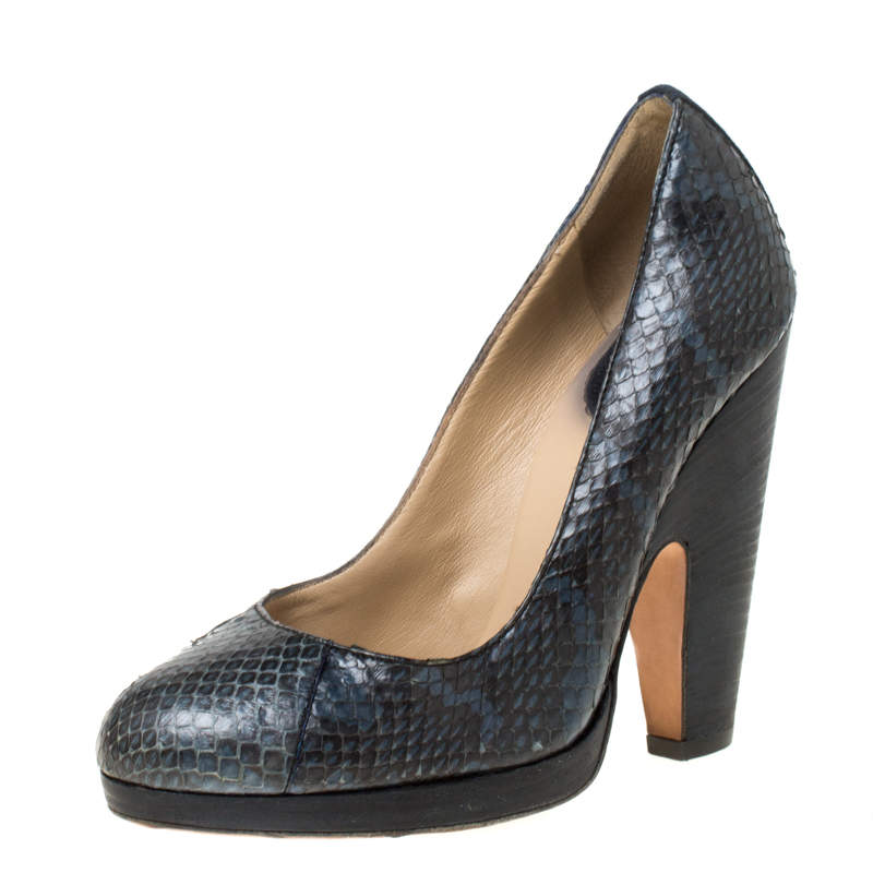 Dolce & Gabbana Grey Python Leather Pumps Size 36