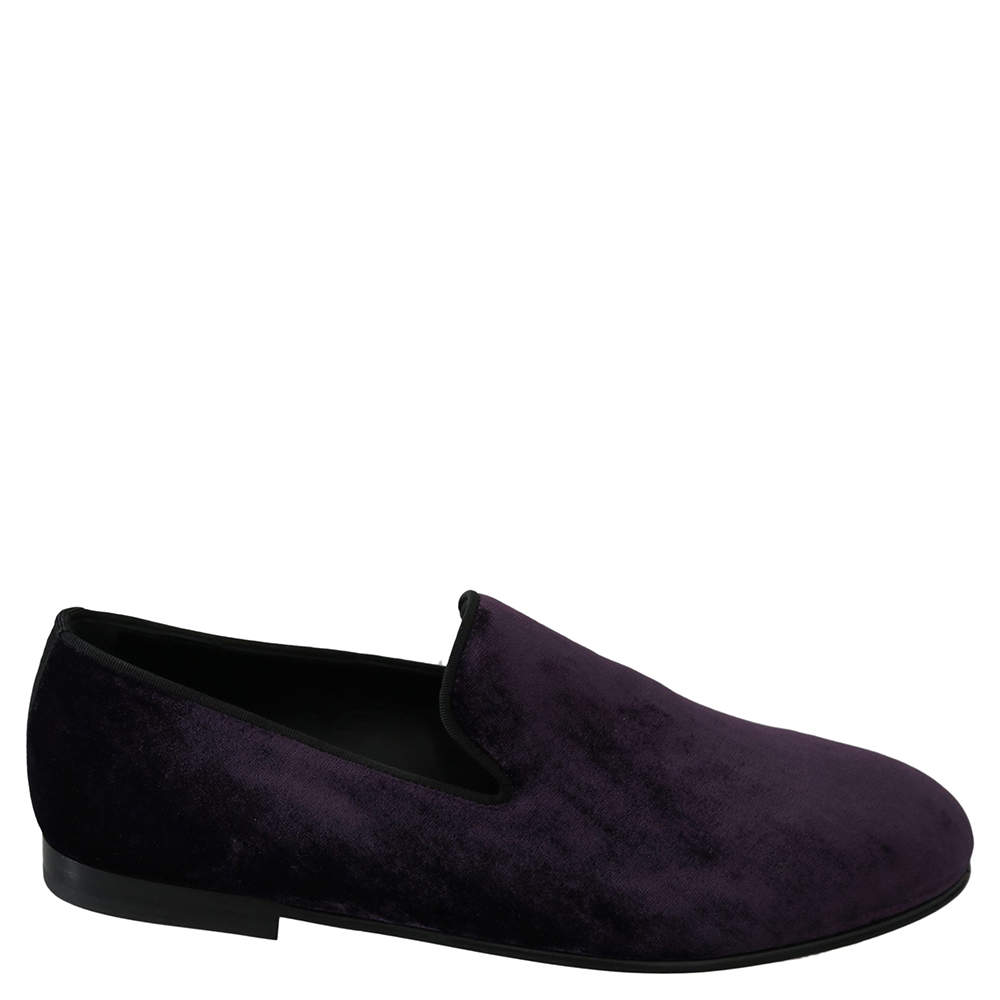 Purple Velvet Slip Ons Loafers Size 42