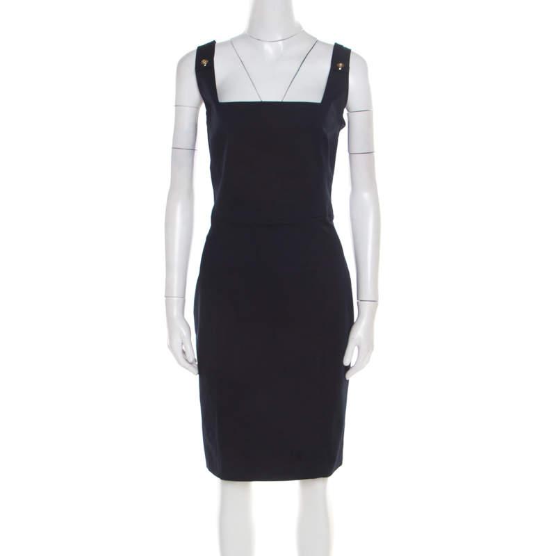 Dsquared2 Navy Blue Cotton Sleeveless Dress L