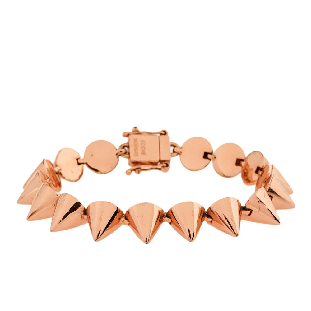 Eddie Borgo Rose Gold Tone Spiked Bracelet
