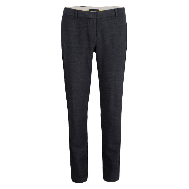 Elie Tahari Grey Wool Tailored Trousers S