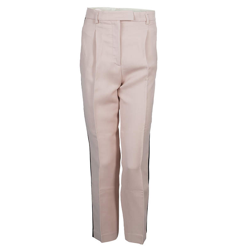 Emilio Pucci Pink Contrast Side Panel Detail Trousers S