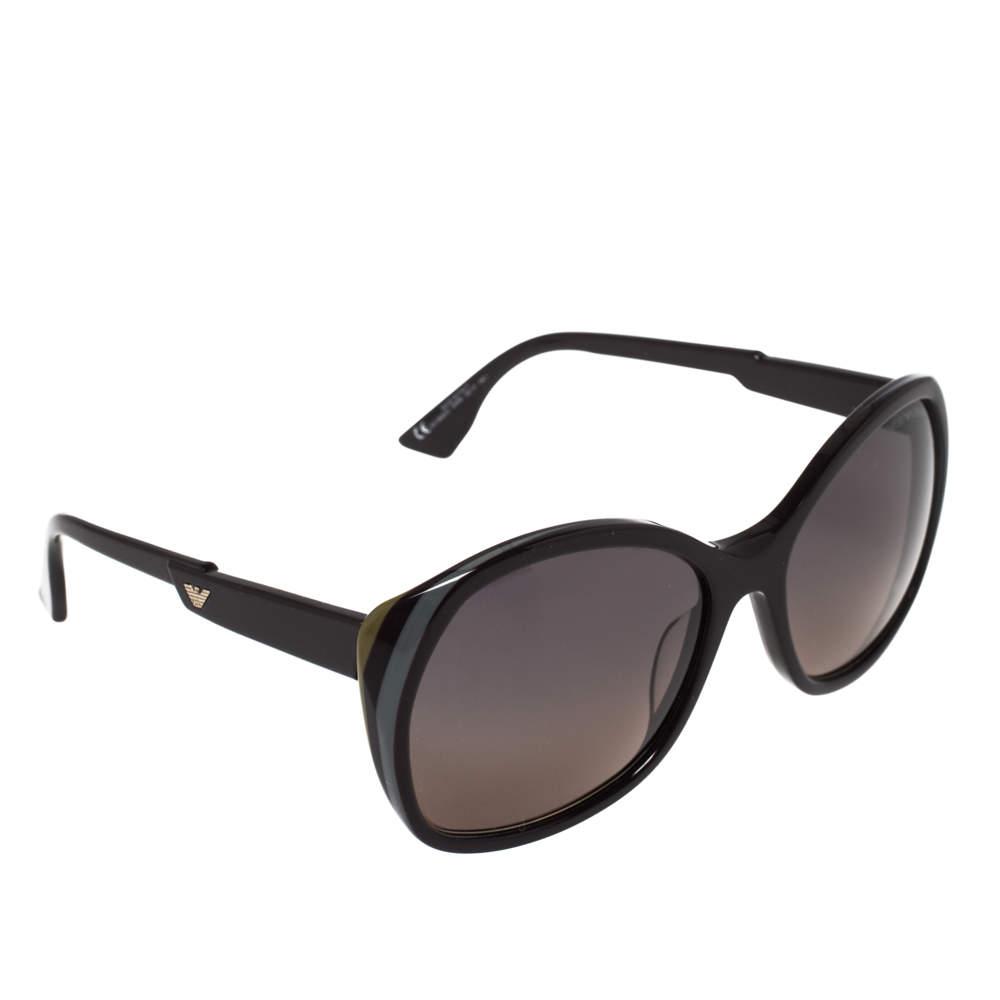 Emporio Armani Brown Striped/Bicolor Gradient EA906/S Square Sunglasses