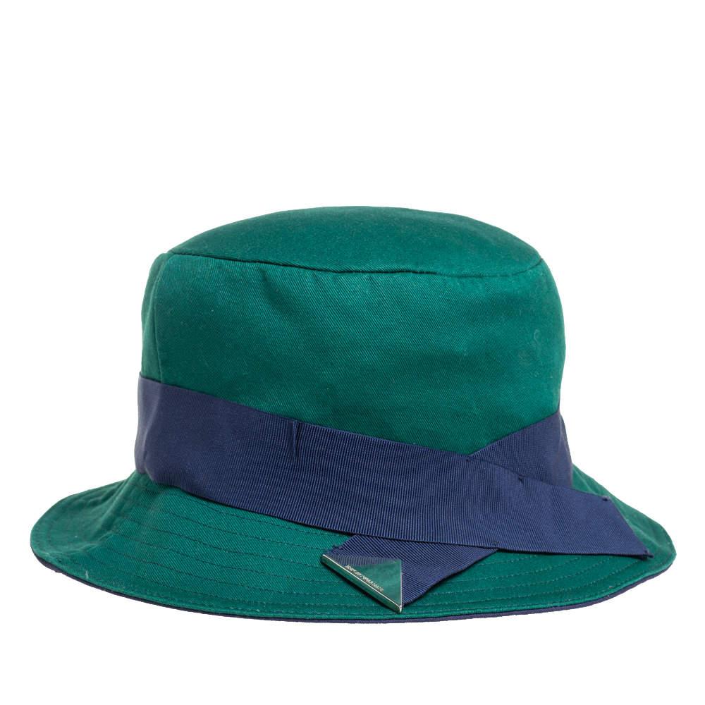 Emporio Armani Jade Green Cotton Cloche Classic Hat