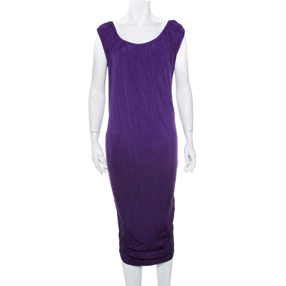 Emporio Armani Purple Knit Sleeveless Shift Dress M