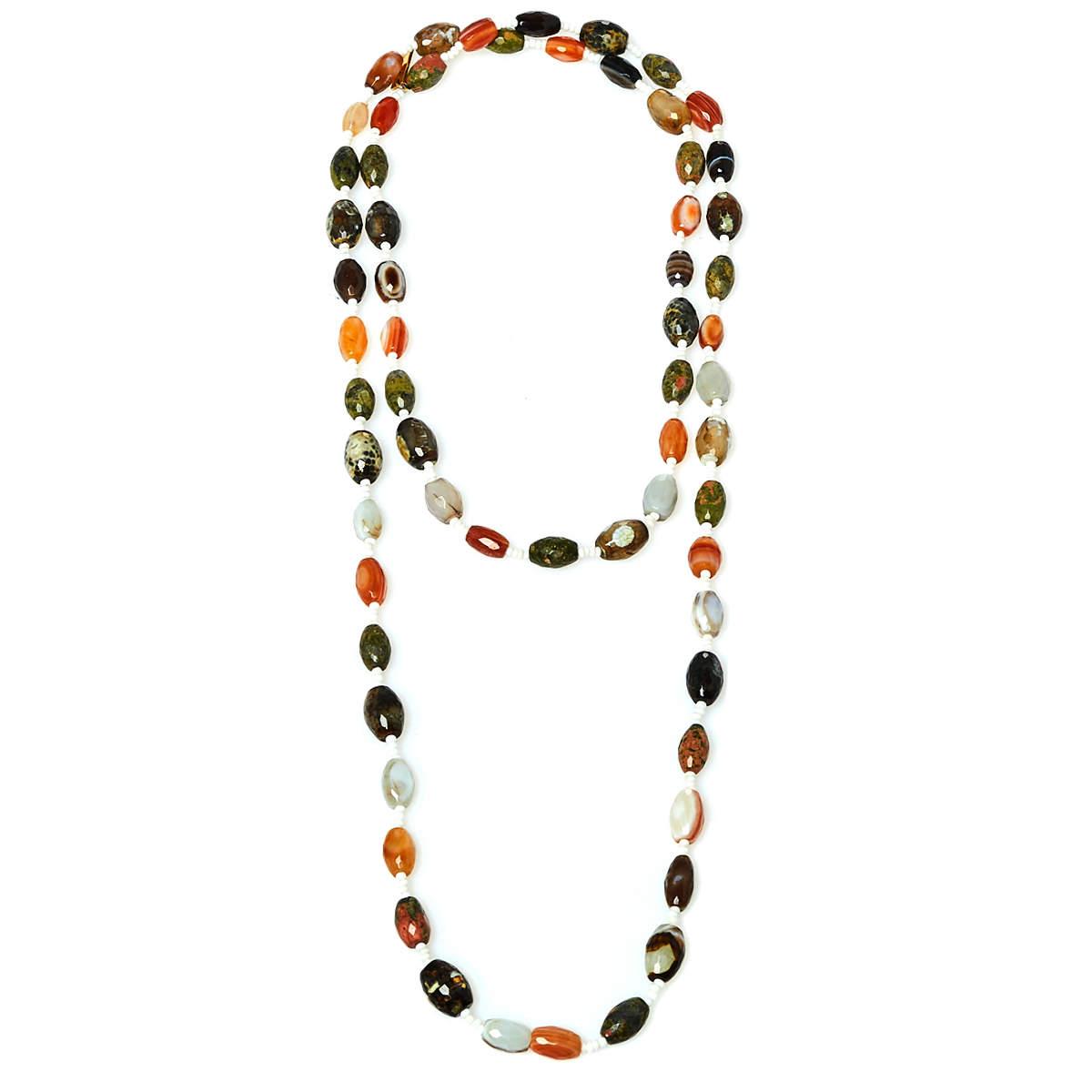 Etro Multicolor Beaded Sautoir Infinity Necklace