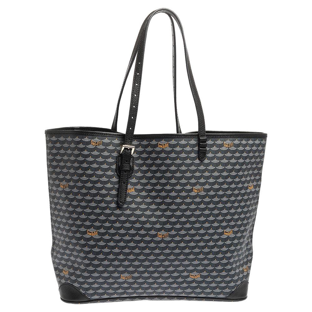 Faure Le page Blue Coated Canvas and Leather Daily Battle 37 Tote