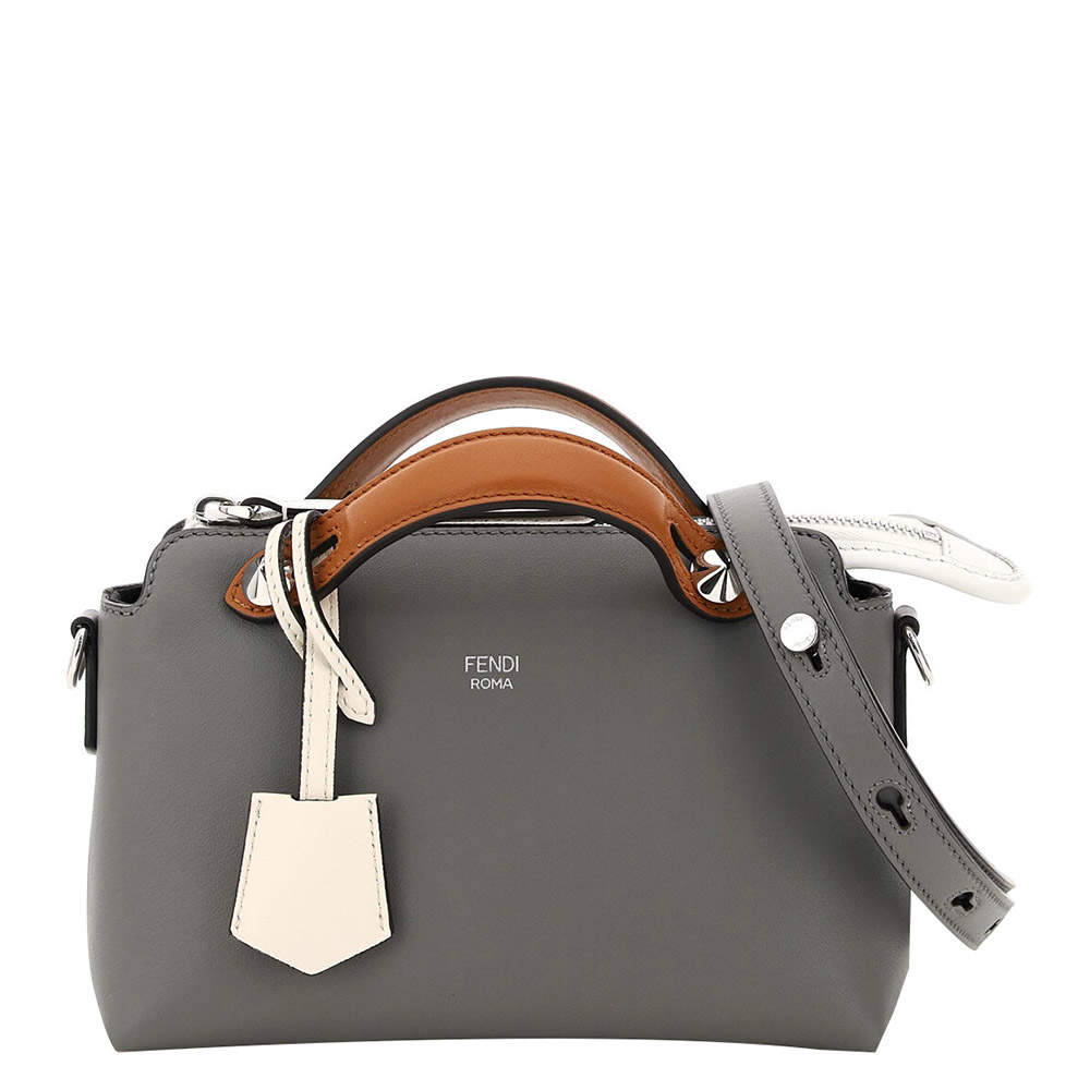 Fendi Gray Leather By The Way Mini Bag