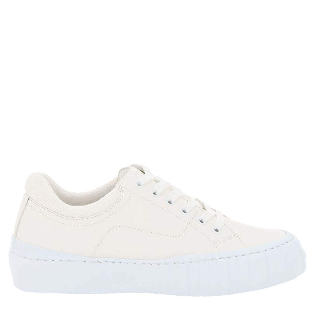 Fendi White Force Lace Up Sneakers Size IT 36