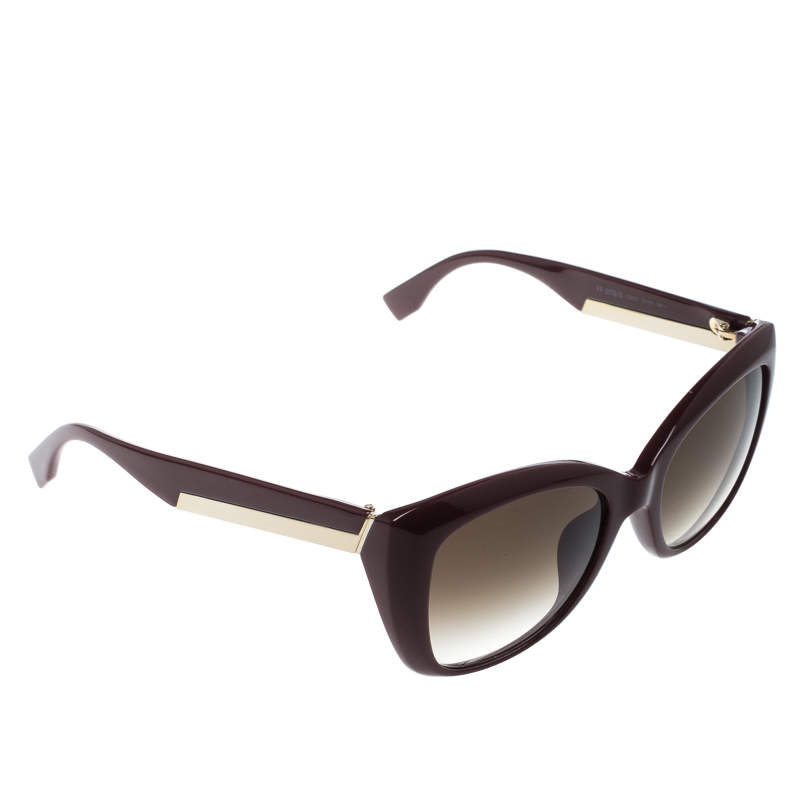 Fendi Burgundy/Brown Gradient FF0019/S Cat Eye Sunglasses