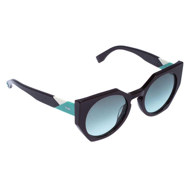 Fendi Brown/Green FF 0151/S Facets Cat Eye Sunglasses