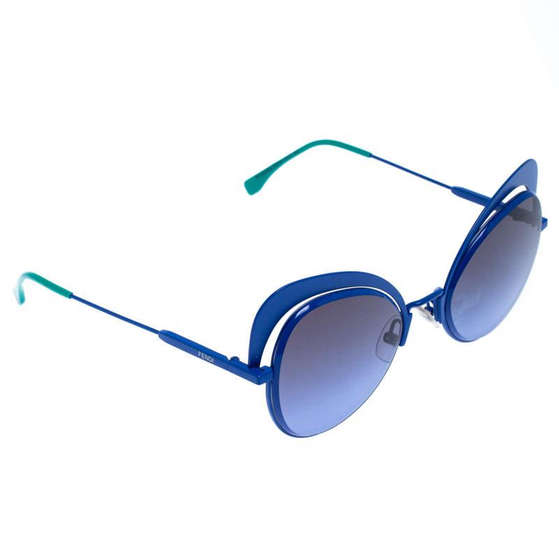 Fendi Blue/Green Eyeshine Cat Eye Sunglasses