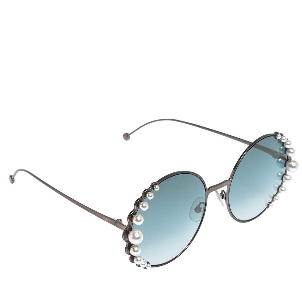 Fendi Bronze/Blue Gradient FF0295/S Pearl Round Sunglasses