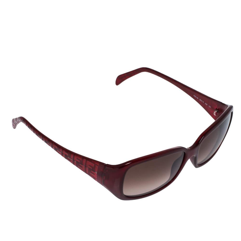 Fendi Bordeaux/Burgundy Gradient FS5146 Rectangle Sunglasses