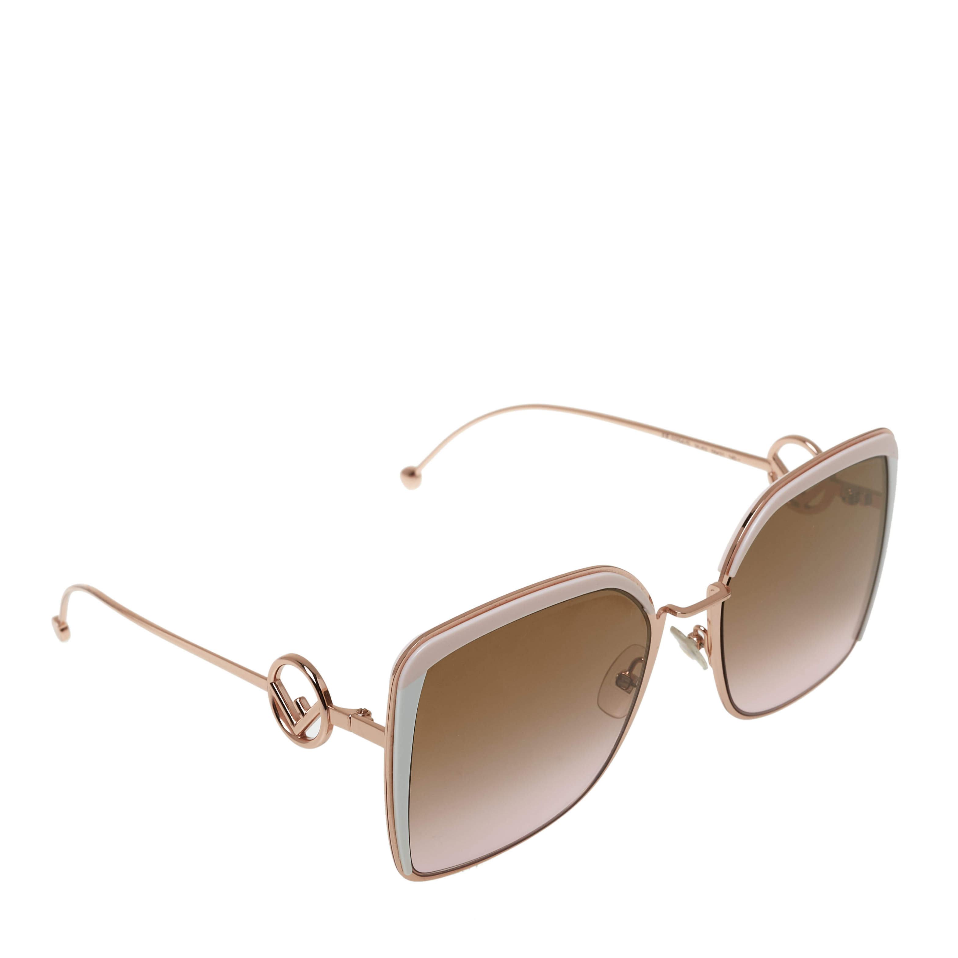 Fendi Pink/White Gradient FF Logo FF0249/S Square Sunglasses