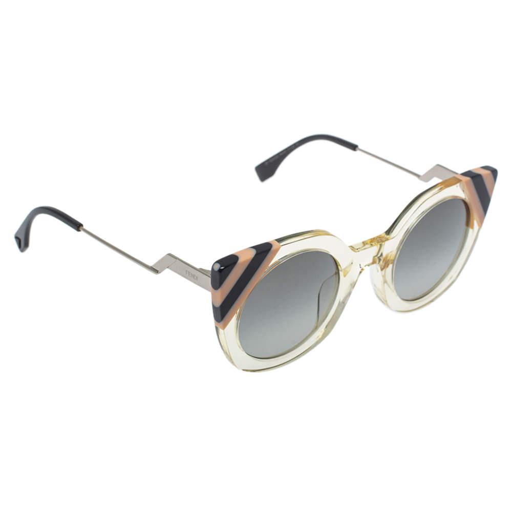 Fendi Clear Stripes/Grey FF 0240/S Cateye Sunglasses