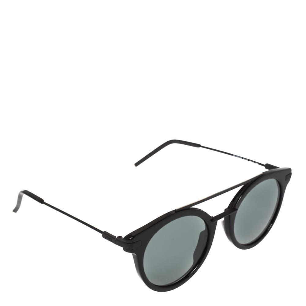 Fendi Black / Green FF 0225/S Round Sunglasses